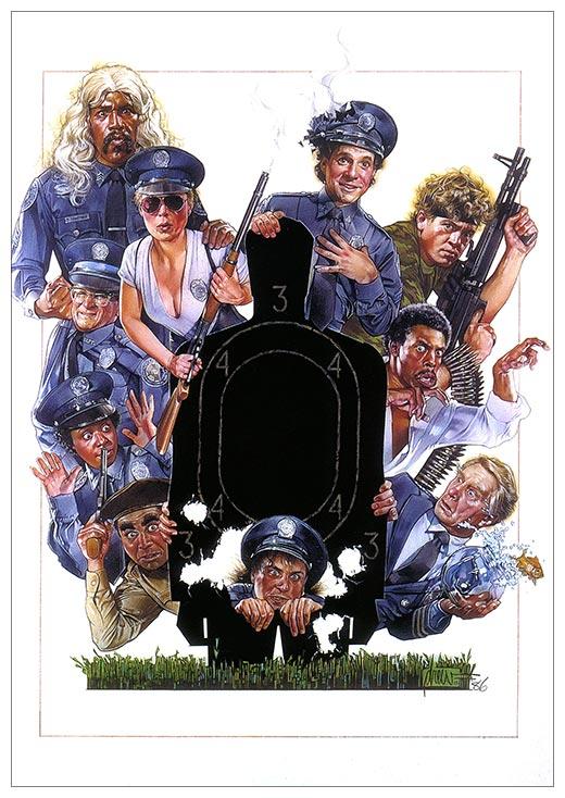 Портретный постер Police Academy / Полицейская Академия